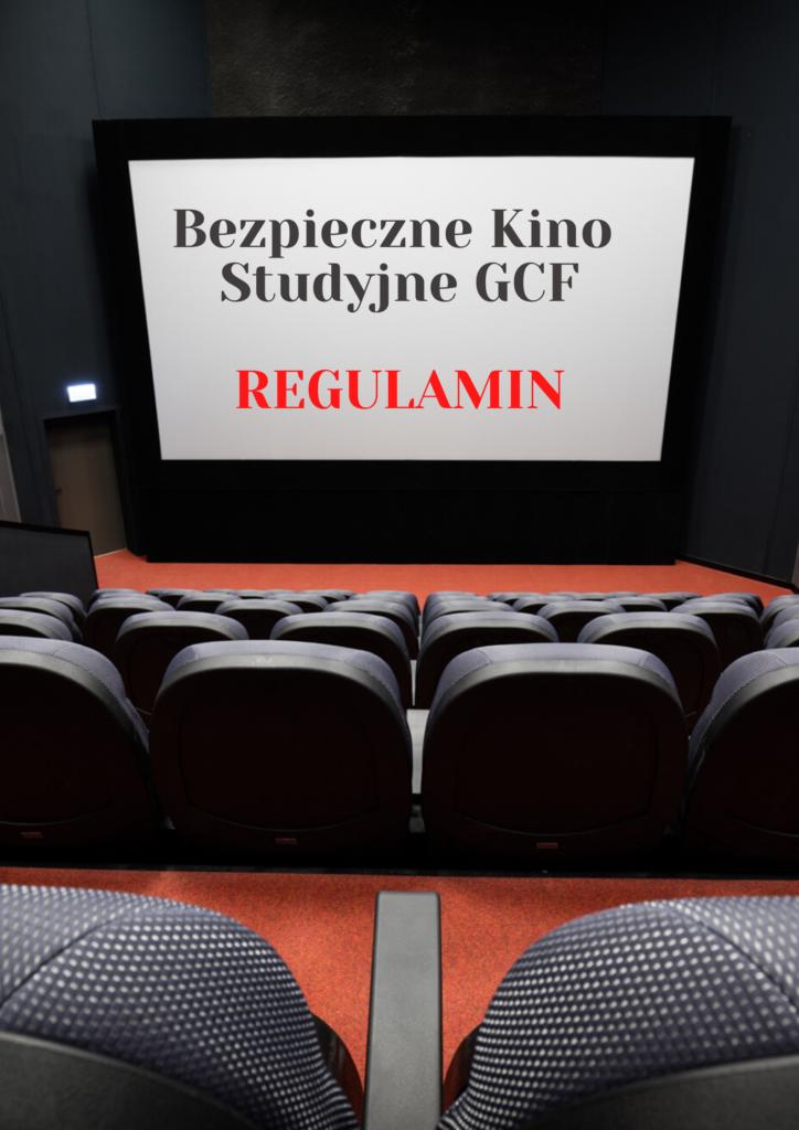 Kino Studyjne GCF. Lato na Patio. Regulamin