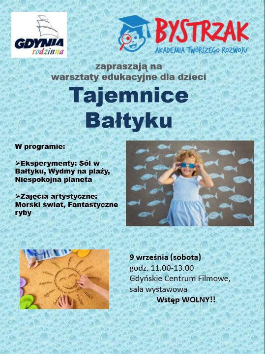 Tajemnice Bałtyku: warsztaty dla dzieci w Galerii Gdyńskiego Centrum Filmowego